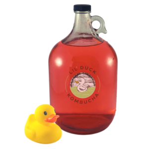 gallon of gingerberry kombucha from lil duck