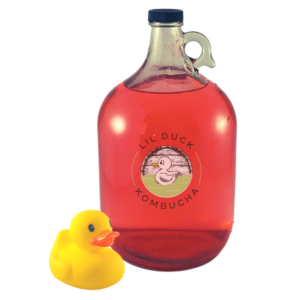 gallon of lavenderberry kombucha from lil duck